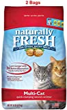 Naturally Fresh Walnut-Based Multi-Cat Quick-Clumping Cat Litter, Unscented, 26-lb Bag (Multi-Cat Unscented, 26 lb, 2 Bags)