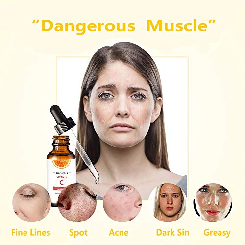 51EXLYSC+OL - Vitamin C Serum for Face with Hyaluronic Acid, Vitamin E & Niacinamide (B3) Face Serum for Anti Wrinkle, Anti Aging, Hydrate & Dark Spot Vitamin C Oil Facial Serum