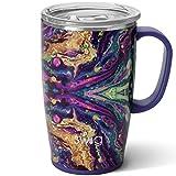 Swig Life 18oz Travel Mug with Handle and Lid,...