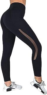 ZARLLE Leggins reductores,Pantalon Deporte Mujer Largo,Malla Empalme Pantalones Deportivos,Bolsillo Pantalones de Yoga,Pantalones Ajustados de Fitness,Mallas Yoga Mujer