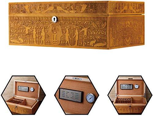 Sellado fuerte Humidores colección de la caja tallada mano de la Caja de humedad Importado español de madera del cedro de gama alta de fumar cigarro Conjunto de almacenamiento caja de cigarros del gab