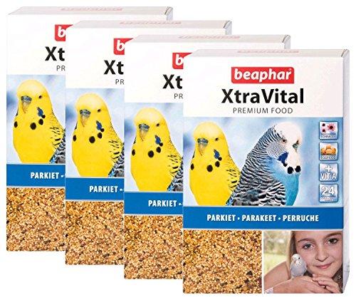 Beaphar XtraVital/Alimentation Premium pour Perroquet 1 kg - Lot de 4