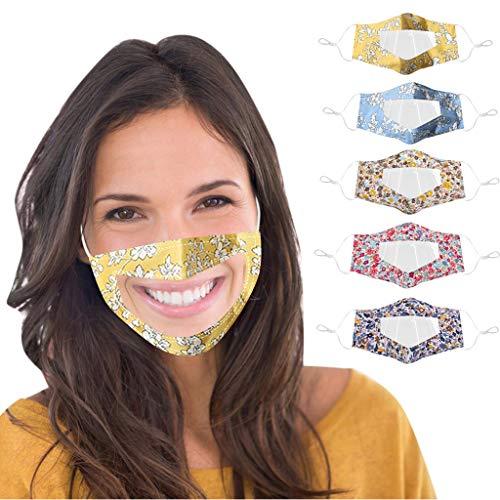5 Piezas Mask_Mascarillas Bufanda Lavable y Reutilizable...