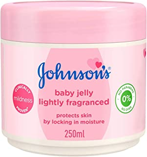 JOHNSON'S Baby Jelly, Lightly Fragranced, Smothens, Moisturizes & Protects from diaper rash, 250ml
