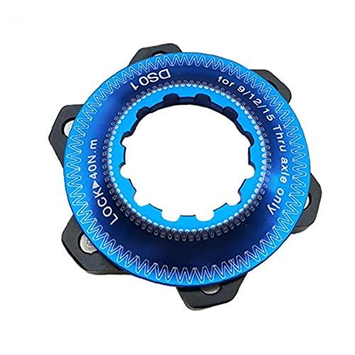 fedsjuihyg Moto Hub centerlock a 6 Hoyos Adaptador Center Lock Conversión 6 Agujero de Freno de Disco Center Lock para 6 Perno Tool Kit (Azul) Bici