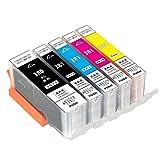 [ZAZ] BCI-381XL+380XL/5MP canon 互換インク BCI-381XL(BK/C/M/Y)+380XL 5色マルチパック BCI-381XL BCI-380XL 1年保証付 380はXL大容量タイプ ICチップ付 残量表示可能 対応機種: PIXUS TS6130 / TS6230 / TS6330 / TS7330 / TS7430 / TS8130 / TS8230 / TS8330 / TS8430 / TR7530 / TR703 / TR8630 / TR9530 / TR8530 他用(380-5-1)
