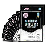 MEDIHEAL Whitening Bubble Tox Serum Mask 10 Masks - Rich Bubbles Serum Foaming Facial Mask Sheet, Skin Clearing and...