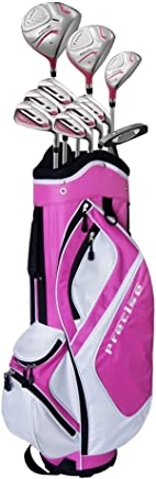 Ladies Petite Complete Women's Golf Club Set with Deluxe Cart Bag (Ladies, Right Hand, -1-inch, Pink)