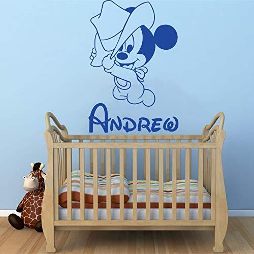 Geiqianjiumai creatieve nieuwe leuke cartoon muis babynamen kinderen aangepaste muursticker muursticker