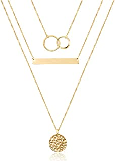 Best layered necklace black Reviews