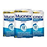 Chest Congestion, Mucinex 12 Hour Extended Release Tablets, 40ct, 600 mg Guaifenesin Relieves Chest Congestion Caused by Excess Mucus, #1 Doctor Recommended OTC expectorant (Pack of 3)