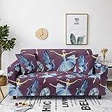 Fundas de sofá de Alta Elasticidad, Swan Ballet Printed Sofá Grande Funda de poliéster para sofás Loveseat Sillón Muebles elásticos universales 4 plazas 235-300cm