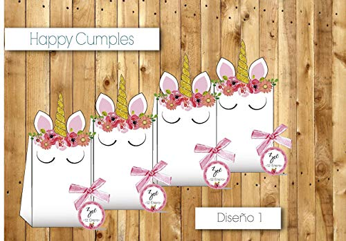 Unicornio Cumpleaños cole /12 cajas Chuches incluidos