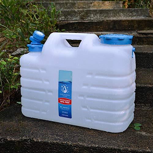 thorityau - Contenedor de agua portátil con espita, plástico HDPE de alta calidad para almacenamiento de agua para acampar al aire libre, senderismo, mochilero, sin BPA