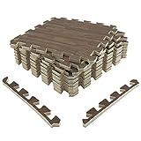 UMI. Essentials - Losas de Goma entrelazadas de 30 X 30 cm (Set de 9) (Set de 9 Madera Oscura)