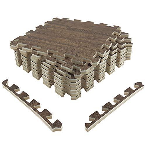 UMI. by Amazon 30cm x 30cm Extra dick ineinandergreifende Bodenmatten aus Schaumstoff (Set von 9) (Dunkel)