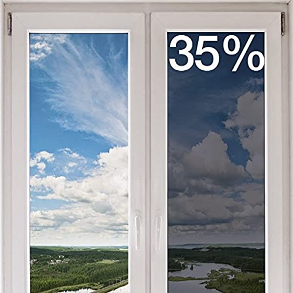BDF HNC35 Window Film Premium Heat Control And Energy Saving Chrome Medium 48in X 15ft