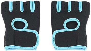 Sgualie Gewichtheffen Half Finger Handschoenen Vrouwen Mannen Beschermend, Blauw, XL