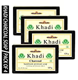 Khadi Activated Charcoal Soap, 125gm (Pack of 4)