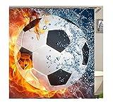SonMo Duschvorhang Polyester Bunt 3D Digitaldruck Fußball Anime Anti-Bakteriell Anti-Schimmel Wasserdicht Badezimmer Gardinen mit Duschvorhangringen Als Trennwand 180X200CM