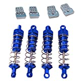 koolsoo RC Car Absorber Aluminum Hydraulic Shock Absorber for WPL C14 C24 C34 C44 D90 D91 MN45 MN96 MN99 MN99S RC Truck Upgrade Parts Accessory - Blue and Extender