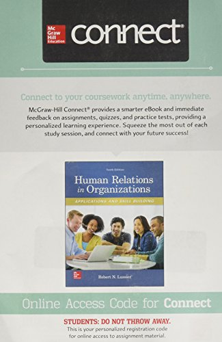 Connect Access Card for Human Relations in Organizations: Applications and Skill Building