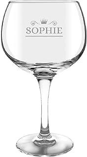 YourSurprise Copa Gin & Tonic Personalizada - Copa de Gin & Tonic con Nombre Grabado: Personalizable con Texto, diseños y Diferentes Tipos de Letras (1)