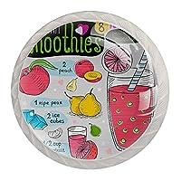 引き出しノブプルハンドル4個 クリスタルガラスのキャビネットの引き出しは食器棚のノブを引っ張る,フルーツジュース