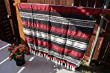 Colap Mexican Falsa Blanket Acrylic Polyester - Cobijas Camping Bed Sofa and Couch Bed Throw Cover Yoga (Red Falsa, 46' x 72')
