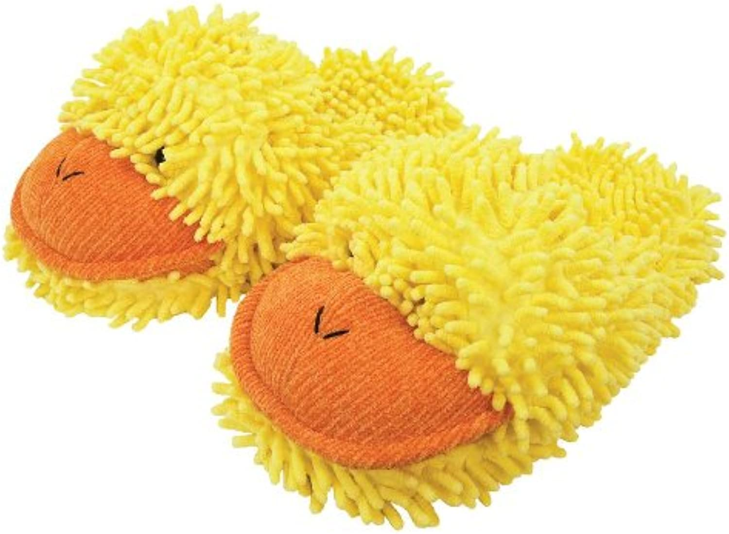 Aroma Home Aromahome Fuzzy Friends Yellow Ducky Duck Womens Adult Slippers