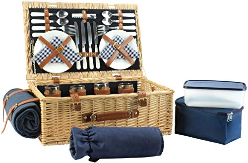 Large Willow Picnic Basket Gift