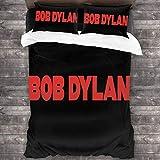 Bob Dylan Bedding Comforter Set Full 3 Piece Bed Sets Soft Comfy Microfiber Lightweight with 2 Pillowcase