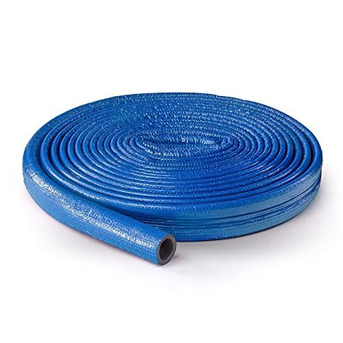 DQ-PP ROHRISOLIERUNG | 10 m Rolle | Ø 22 mm | 6 mm Isolierstärk | Blau | PE-Schaum | Isolierschlauch Rohr Isolierung Heizungsrohr Schlauch Rohrdämmung Warmwasserleitung Heizung