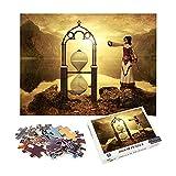 1000 piezas de rompecabezas Chica reloj de arena Regalos educativos para niños juegos de rompecabezas 52x38cm-Fantasy