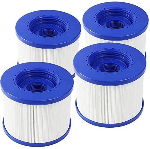 Denkmsd Cartuccia filtro di ricambio per Wave Spa, filtro per vasca idromassaggio e spa, per acquaparx, per Aqua Spa, Costway, per tutte le stagioni, GoPlus, Wido e altri (4 pezzi)
