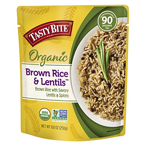 Tasty Bite Brown Rice and Lentils Microwaveable Ready to Eat Entrée 88 Ounce Pack of 6