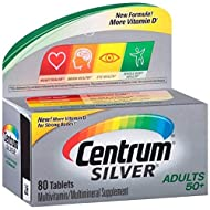 Centrum Silver Multivitamin/Multimineral for Adults 50+, Tablets 80 ea (Pack of 7)
