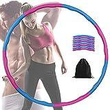 FeelGlad Hoola Hoop, Fitnesskreis Gewichtsverlust Schlankheits Kreis mit 8 Abnehmbare Abschnitte f ür Gewichtsverlust Fitness-Training, 1.2kg