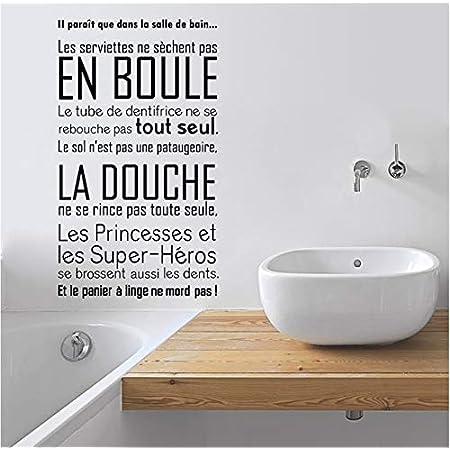 Toilette Photo citation Salle de Bain Mur Art Décor Drôle Vinyle Autocollant Home Decal À faire soi-même