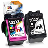 Starink Remanufactured Kompatibel für HP 302XL 302 XL Druckerpatronen für HP Envy 4520 4525 4524 4527 HP Officejet 3833 4658 3834 3830 3831 HP Deskjet 3630 2130 3636 1110 3633(Schwarz/Farbe)