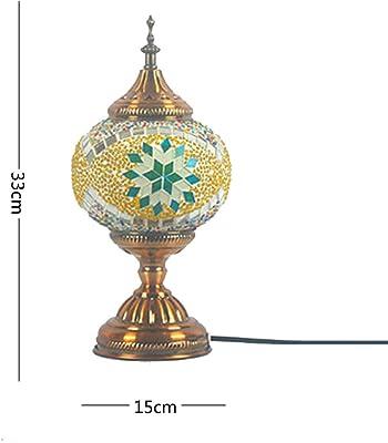 Amazon.com: t20015 Mostaza hecho a mano turco lámpara de ...