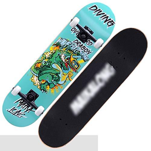 Skateboard Cruiser/Planche à roulettes Professionnelle Unisexe à Quatre Roues/débutant, Enfant, Adulte, Jeune, Homme et Femme Trottinette Double en érable (Color : Blanc, Size : 79 * 20cm)