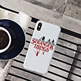 RENGMIAN Stranger Things Christmas Lights iPhone Case Colored Soft Matte Silicone Phone Cases ST-437 For Funda iPhone SE 2020
