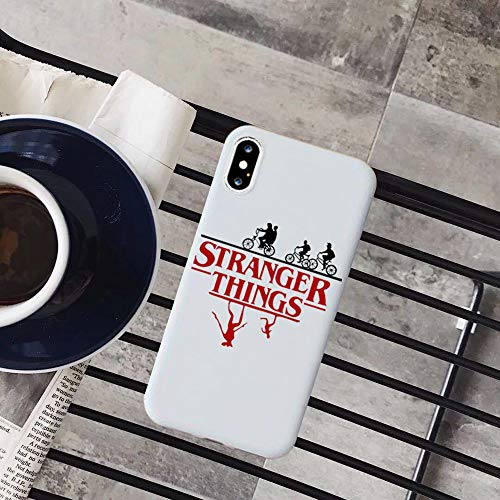 RENGMIAN Stranger Things Christmas Lights iPhone Case Colored Soft Matte Silicone Phone Cases ST-467 for Cover iPhone XS Max