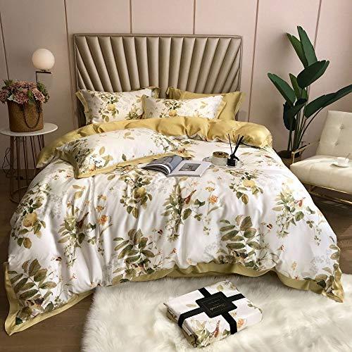 yaonuli vier bedlakenseries op het bed, 1,8 m, bovenste laag transparant, L 1,8 of 2,0 m, vier bedsets (dekbedovertrek 220 x 240)