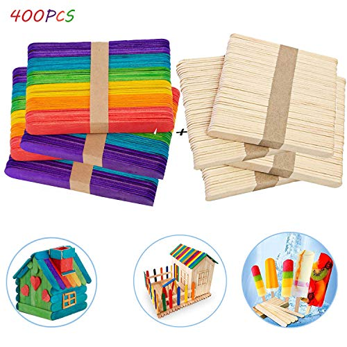 1.Paquete incluido: - Obtendrá 200 piezas 114 mm * 10 mm * 2 mm varillas de madera de color, 200 piezas 140 mm * 10 mm * 2 mm palitos de madera natural. 2. Los palos de colores parecen muy resistentes. Los colores naturales son adecuados para hacer p...