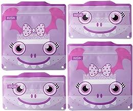 Russbe 18730 Monster Reusable Snack & Sandwich Bags (Set Of 4), Purple