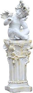 تماثيل خارجية على الطراز الأوروبي لتزيين فناء ملاك، تمثال عامود روماني على شكل عمود أرضية حديقة فيلا منحوتة للديكور الخارج...