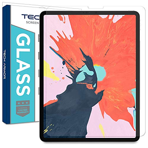 Tech Armor Ballistic Glass Screen Protector Designed for Apple iPad Pro 12.9-inch 2018 (Compatible with Face ID and Apple Pencil) [1-Pack]