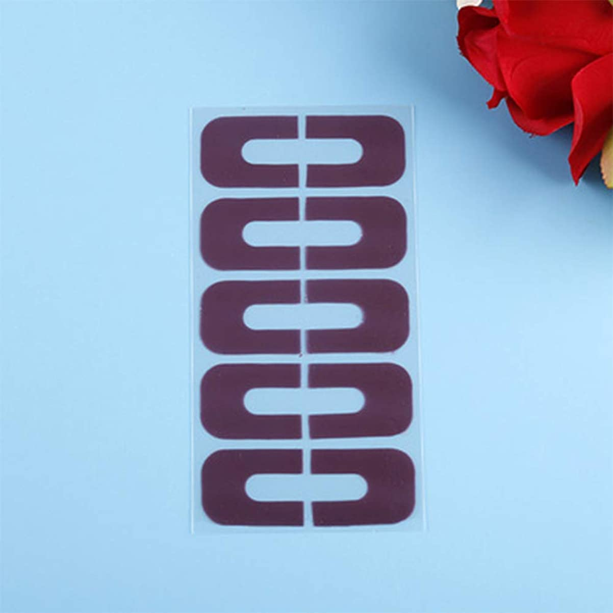 終わりわざわざ分配しますMurakush マニキュアツール 10ピース U字型 実用 マニキュア こぼれる爪 爪保護 ステッカー 抗オーバーフロー指スキンケア DIYツール purple